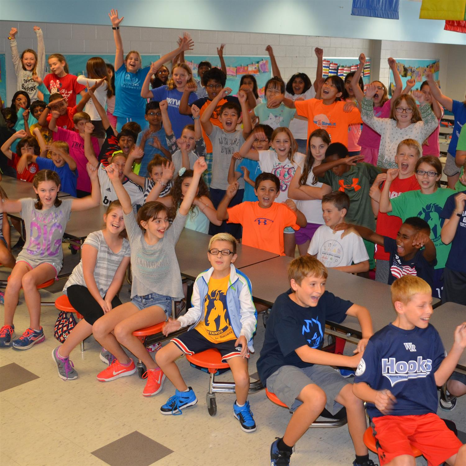 Morrisville Elementary students celebrate being named 2016 National Blue Ribbon School