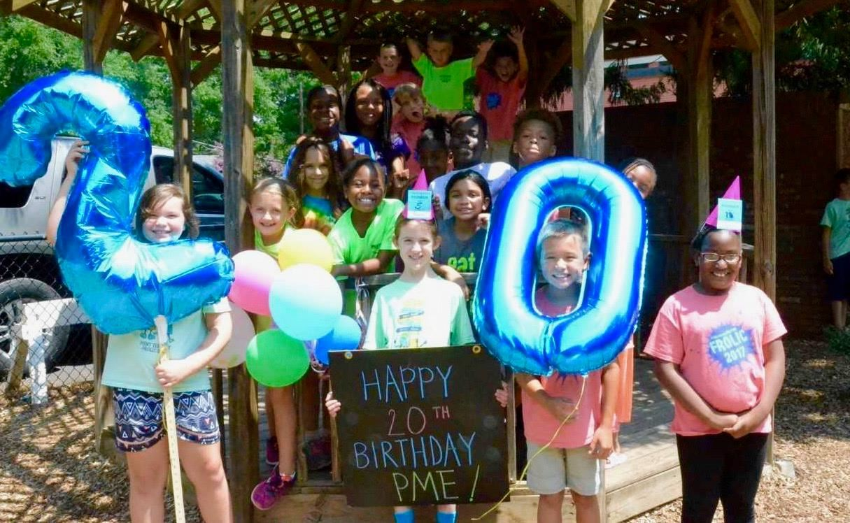 Partnership Elementary students celebrate the school's 20th Anniversary