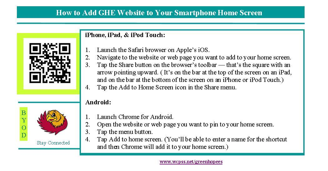 Add Website to Smartphone Home Screen