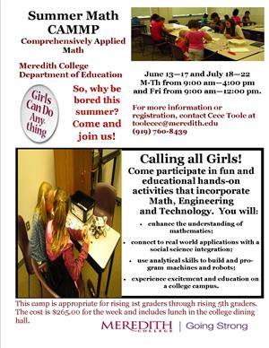 Meredith Math Camp