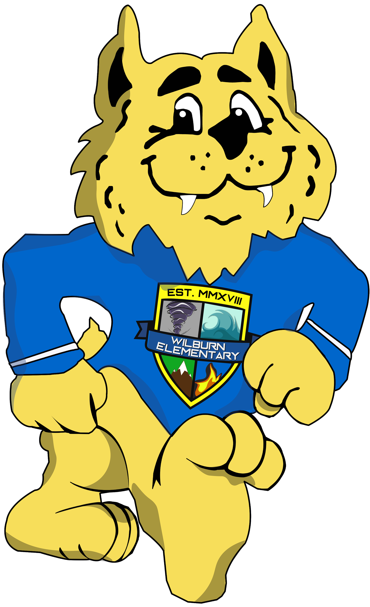Willie with Crest