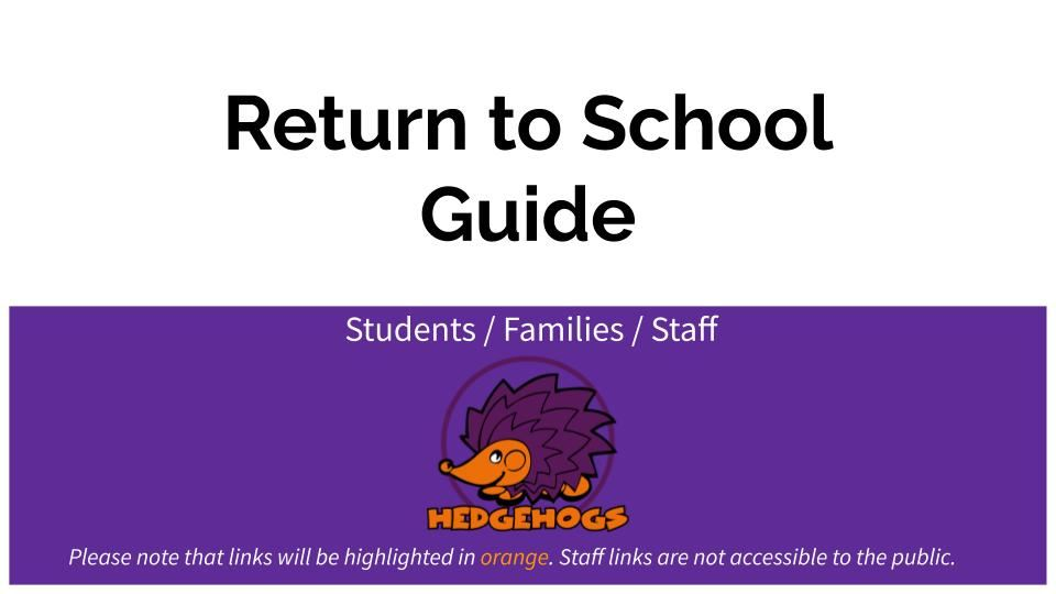 Returning to School Guide