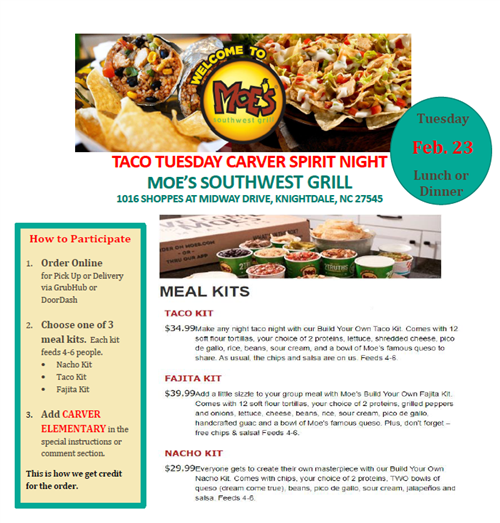 Meal Kits from Moe's
