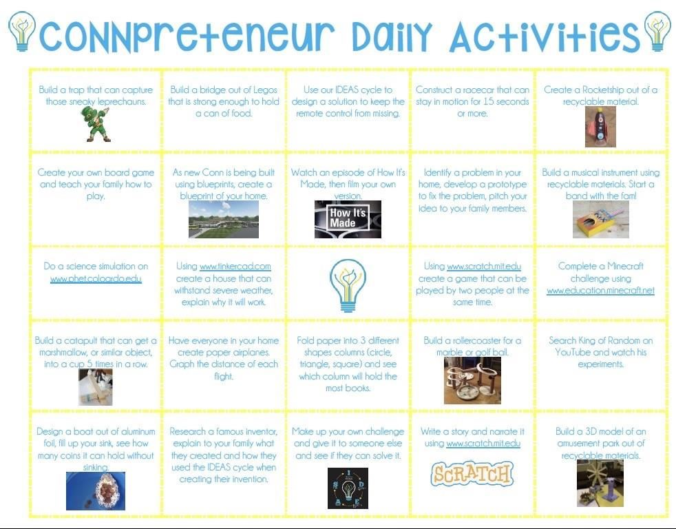 CONNtrepreneur Daily Activities