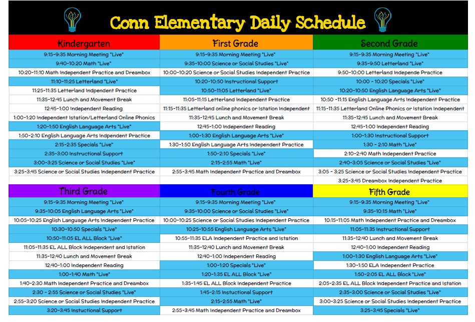 Orientation & Daily Instructional Schedules