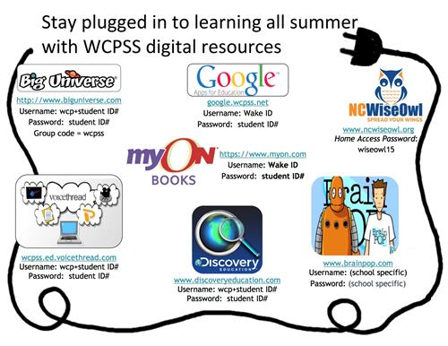 Stay plugged in to learning all summer with WCPSS digital resources
