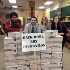 LRHS Executive Council, Back Home Boxes Event