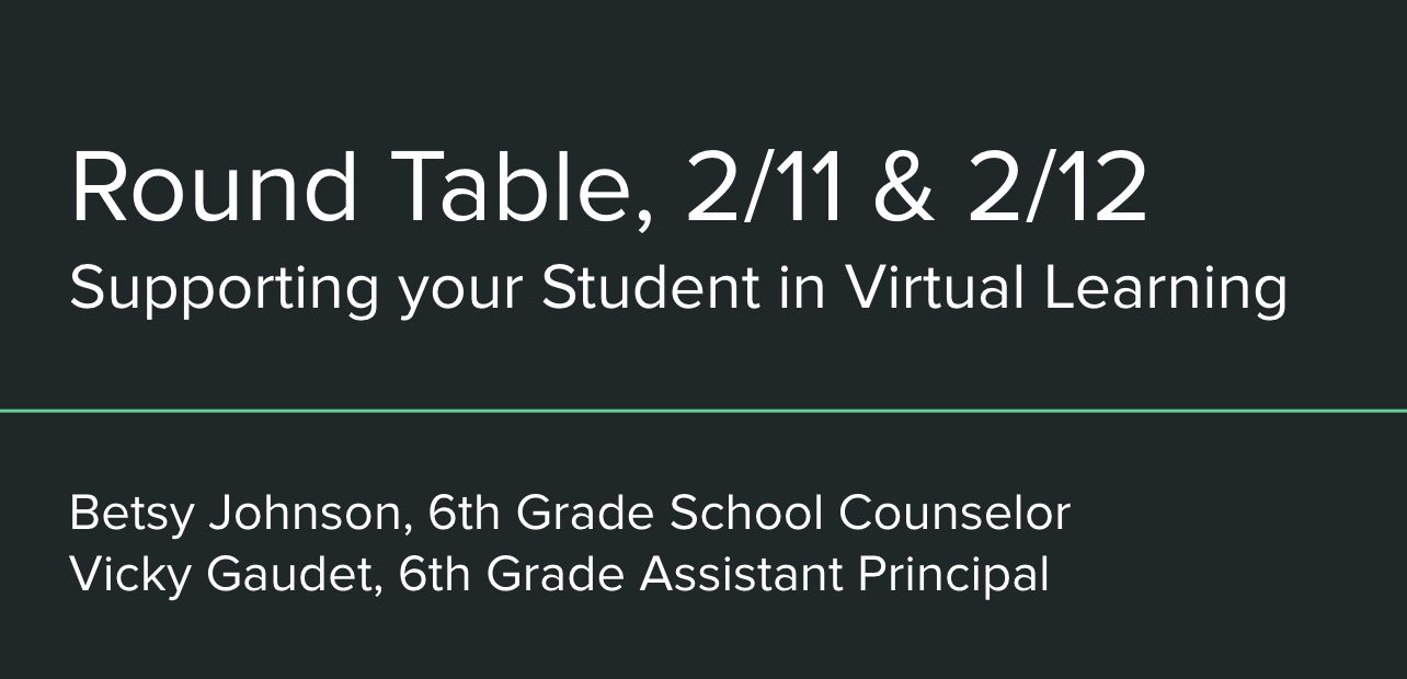 6th Grade Round Table Resources