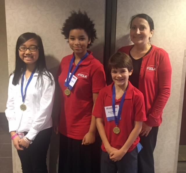 FCCLA Wins Gold In Their 1st Year at HMS!