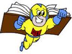 Might Book Super Hero Carrying a Book LInk