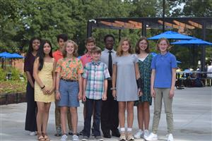 NJHS Volunteers for Moore Square Park Ceremony