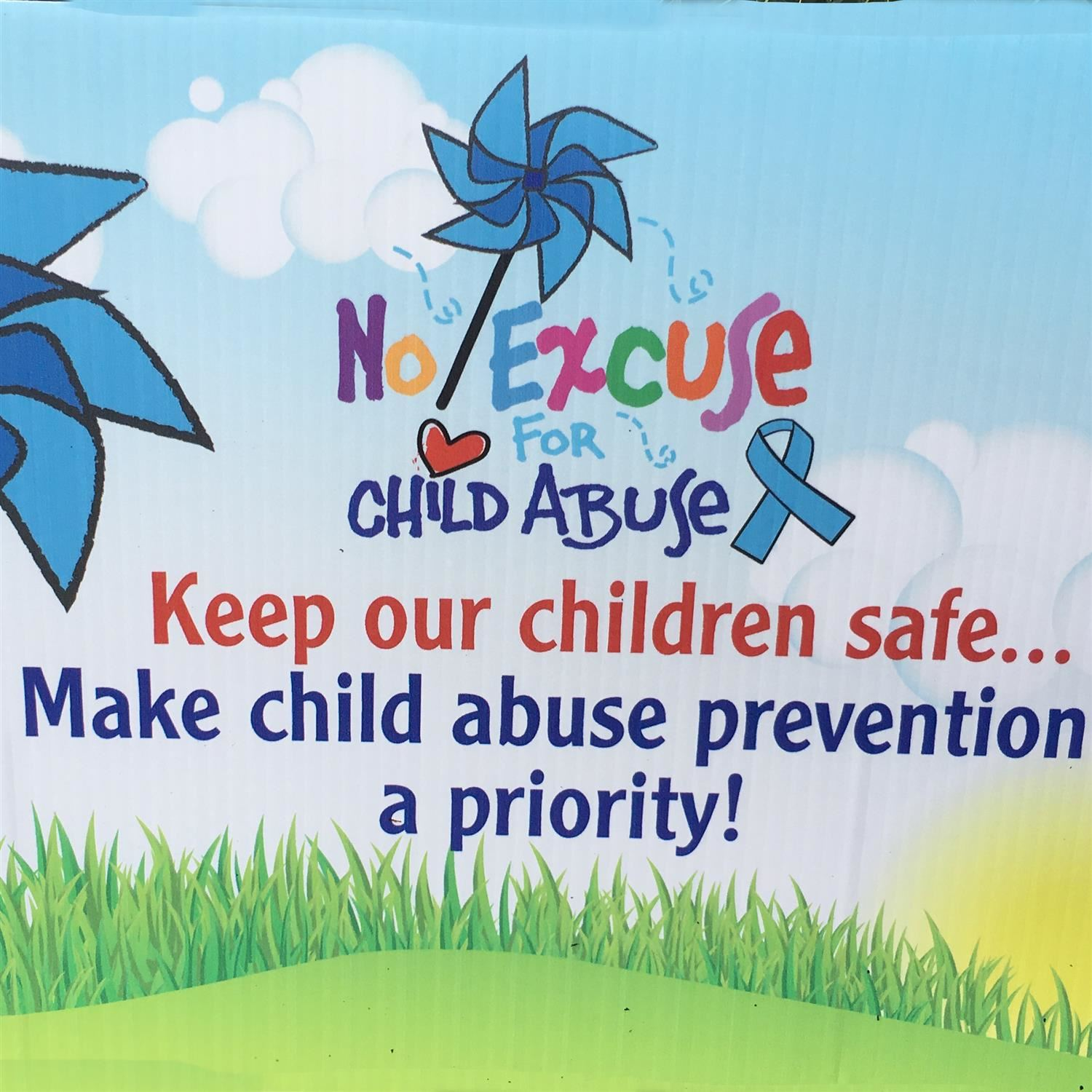 Child Abuse Prevention Month Sign