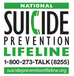 National Suicide Prevention Lifeline: 1-800-273-TALK