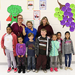 Bryan Road ES cafeteria manager and students