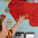 CNS Manager describes apple nutrition poster