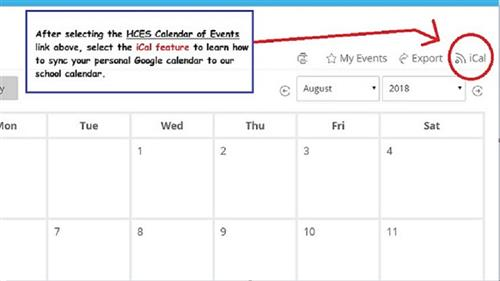 How to sync calendars