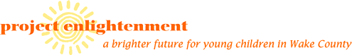 project enlightenment official logo with a brighter future for young children in Wake County tagline