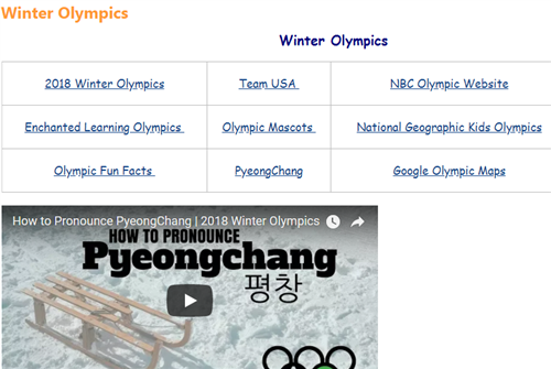 winter olympics website