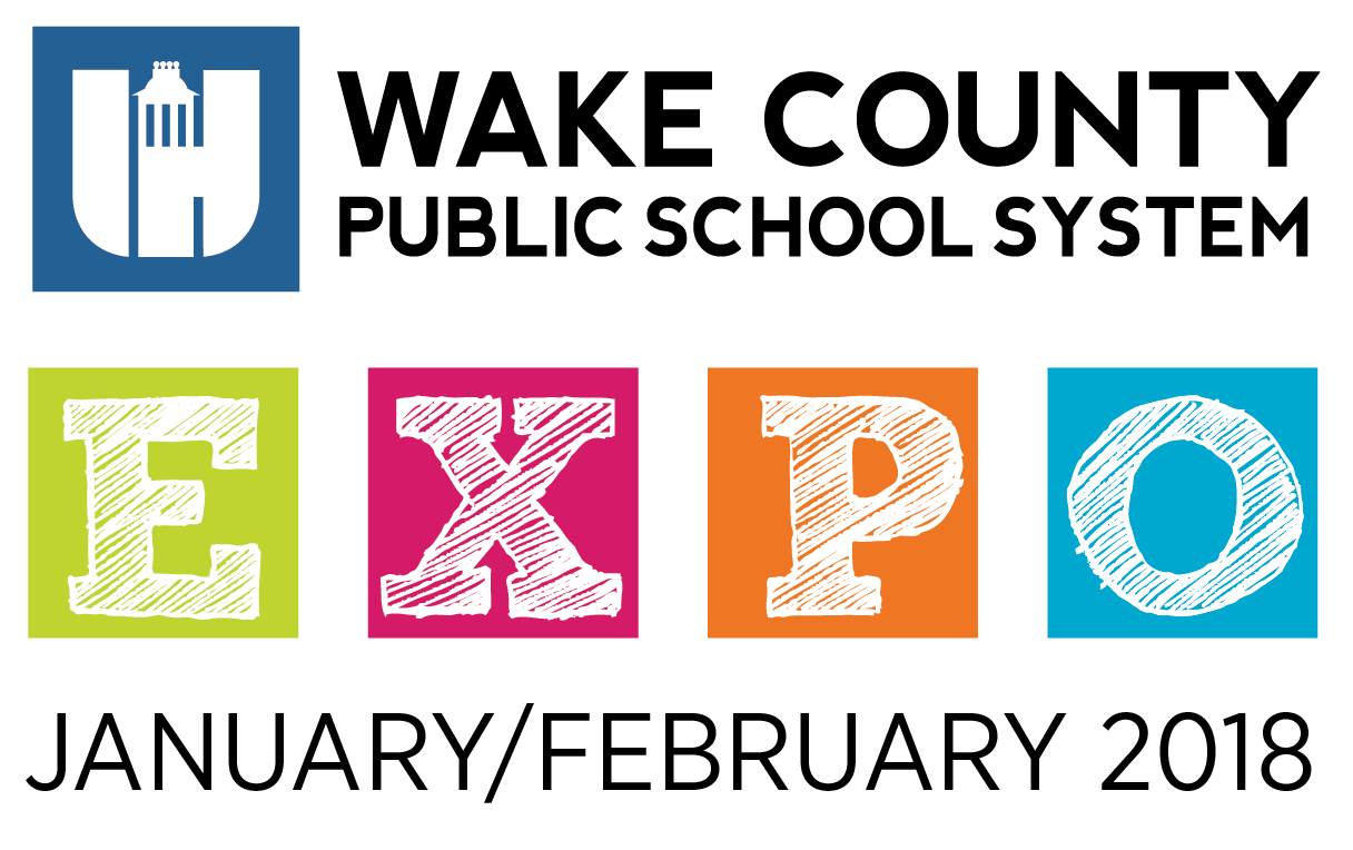 The logo for the Wake County Public School System EXPO January and February 2018 Open House and School Tour Event