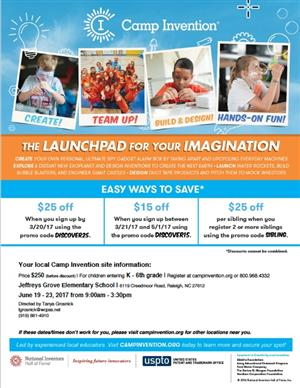 Camp Invention Flyer 2017