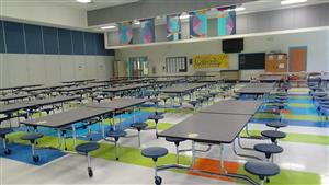 image of cafeteria tables