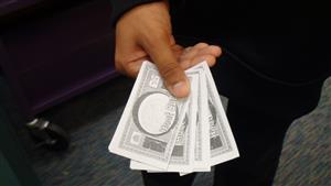 picture of Hoot Bucks, or Aversboro Elementary's school currency