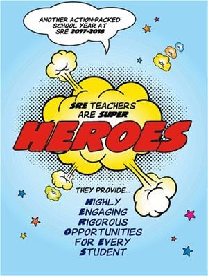 scotts ridge elementary 2017-18 school theme heroes