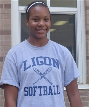 Student in Ligon MS t-shirt