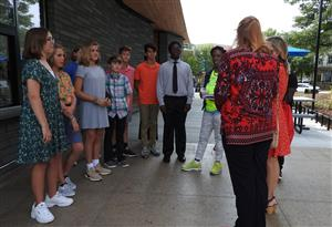 NJHS Students Receive Instructions from Raleigh official