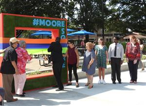 Moore Square Students Participate in Moore Square Park Ribbon Cutting Ceremony
