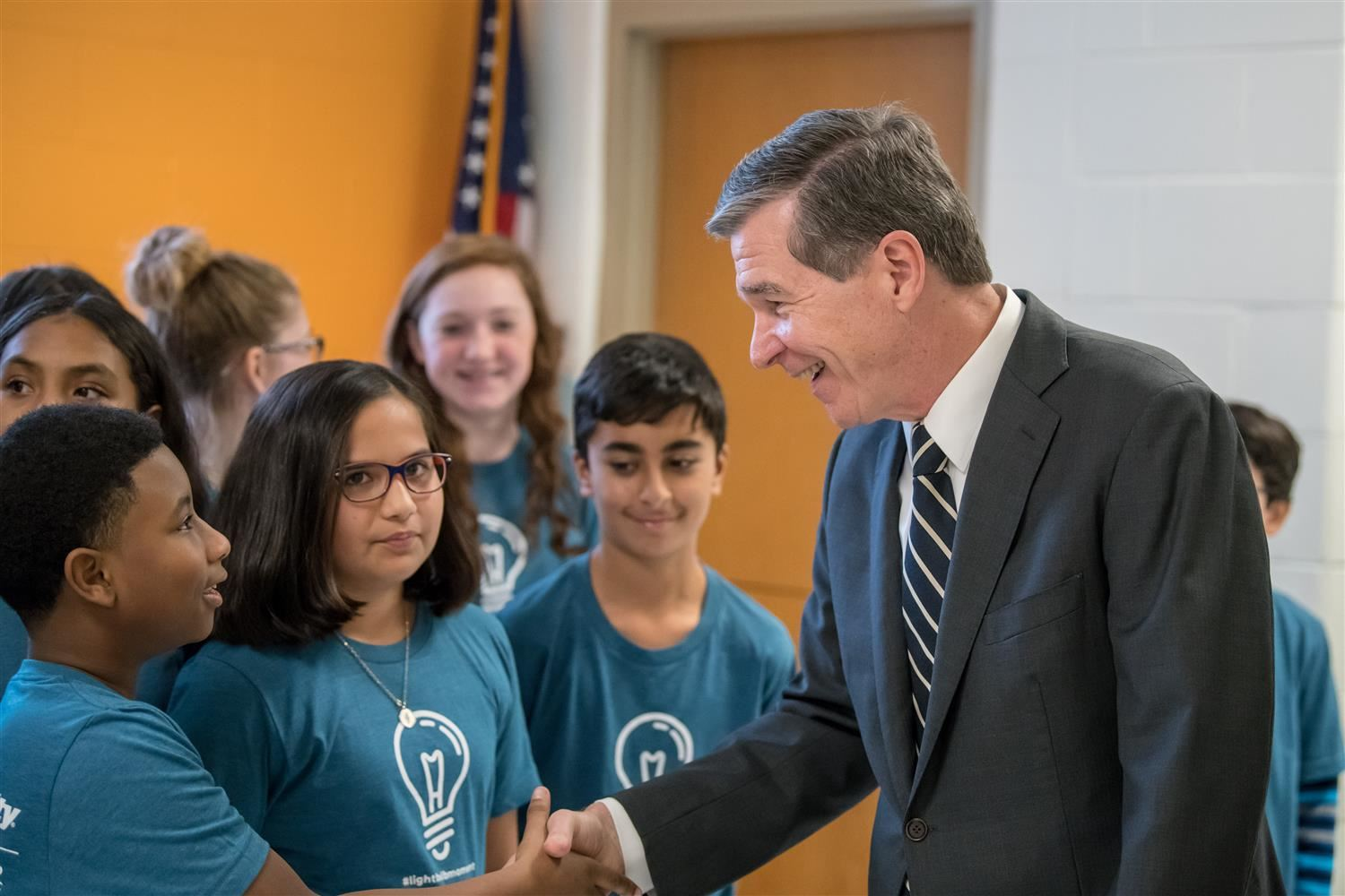 Governor Roy Cooper Visits Moore Square