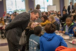 Governor Cooper in the Cafe