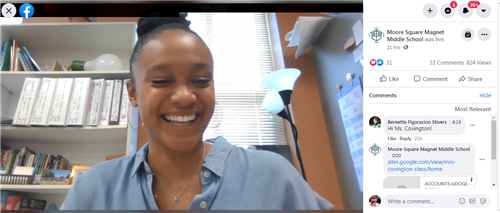FB Live with Ms. Covington