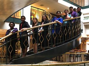 FBLA Participants on Staircase