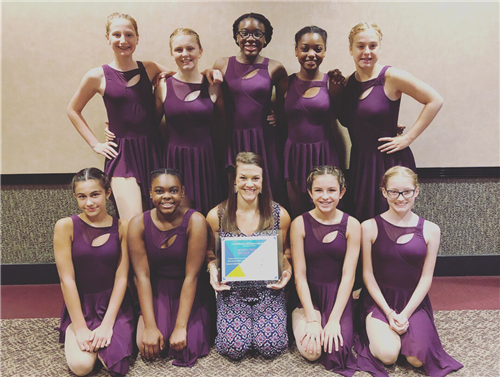 Moore Square Dance Team with Teacher & Award