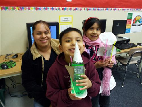 Family at Math & Science Night