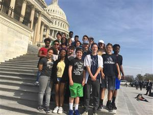 Students at the US Capitol
