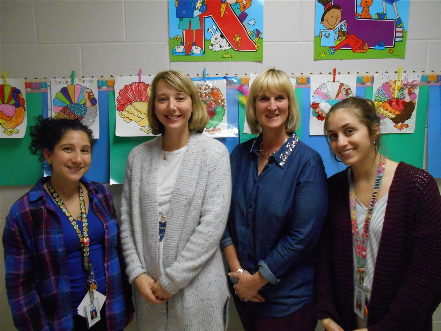 Kindergarten Teachers - Ms.. Kalmus, Ms. Robertson, Mrs. Hartley, and Ms. Kontos