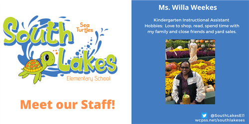 Ms.Willa Weekes, Instructional Assistant