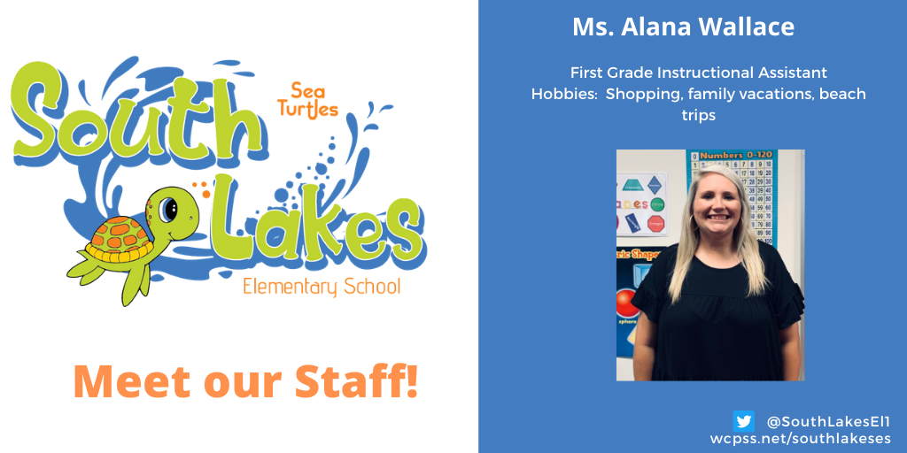 Ms. Alana Wallace First Grade Instructional Assistant