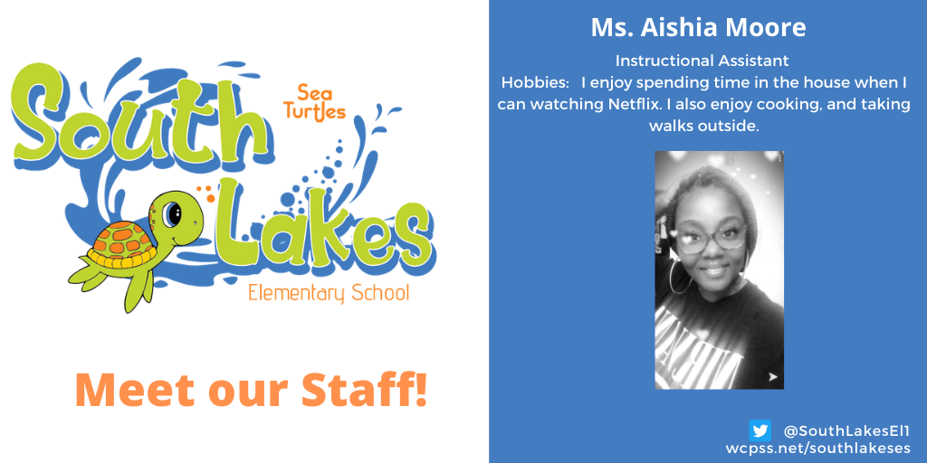 Ms. Aishia Moore Instructional Assistant
