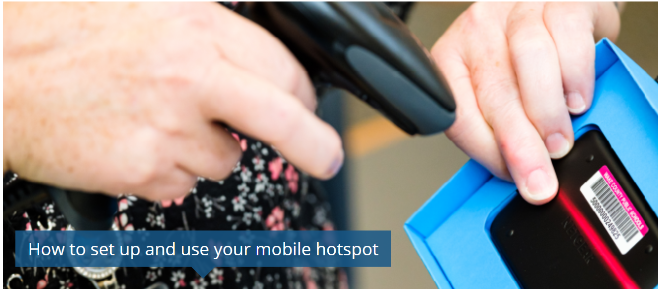 Setting up your mobile hotspot