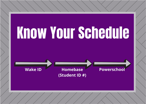 Know your Schedule