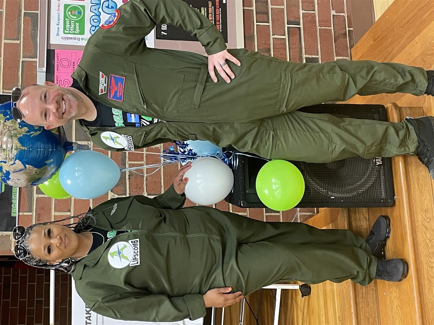 Mrs. Walser and Mr. Hegedus with WCPSS Superintendent Cathy Moore
