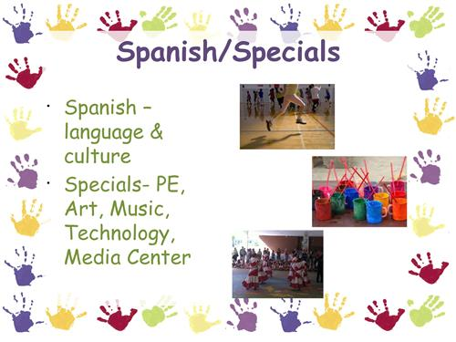 Kindergarten Spanish and Specials