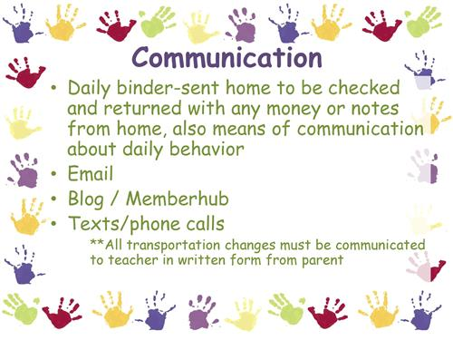 Kindergarten Communication