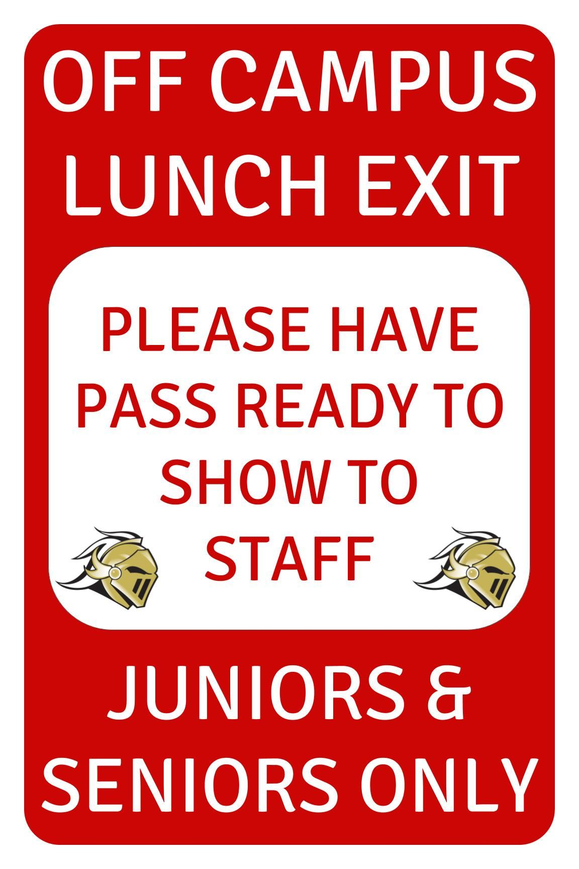 Purchase a KHSCD Off-Campus Lunch Pass