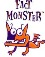 Blue and Orange Fact Monster words and flying dog monster link