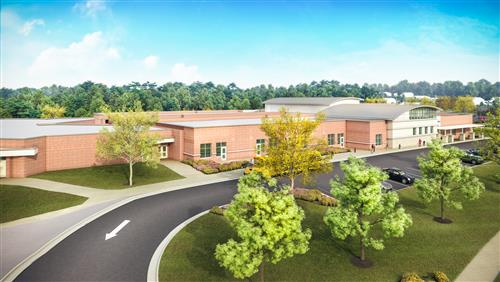Artist's rendering of our new school.