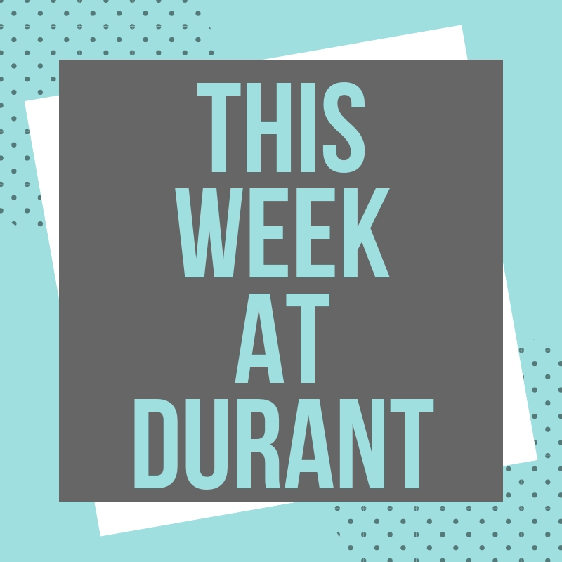 This Week at Durant: 10/15